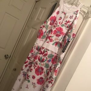 Misses floral spring sheath dress